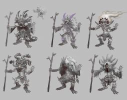 Goblin Shaman Rough Concepts by Eyecager