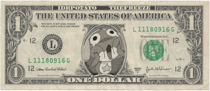 Keroro One Dollar Bill by TheFreeze812