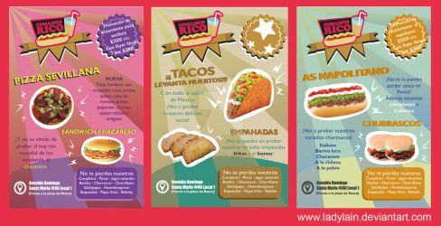 Flyers Comamos rico by LaDyLaIn
