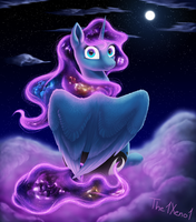 Universe haired Luna by The1Xeno1
