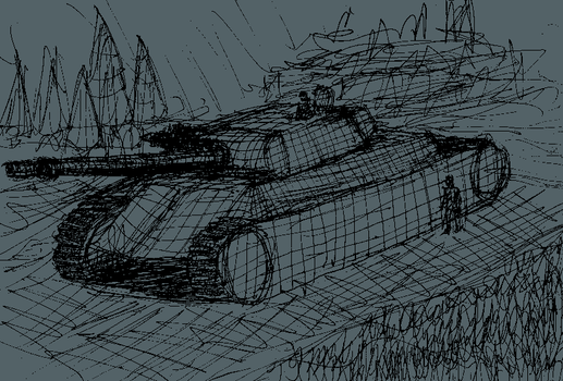 Mars 2050 Dreadnought Landship Concept Sketch by ForgottenDemigod
