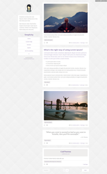 Simplicity - Clean Tumblr Theme by NicotineLL