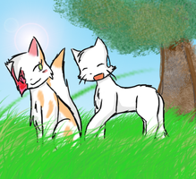 Cloudtail x Brightheart by Neon45