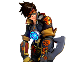 [Overwatch] Rose Tracer (Render) by PopokuPinguPop90