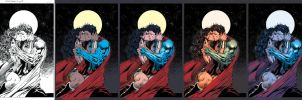 Wonder Woman/Superman Coloring Steps by Marc-F-Huizinga