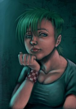 Punk Rock Girl by nocturnalMoTH