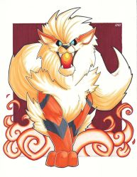 Arcanine - Copics by Jougeroth