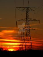Powerlines at Sunset 4 by sameyer716
