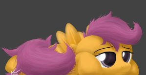 I'm so Booored -  Scootaloo by SymbianL