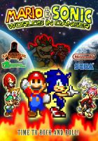 Mario and Sonic Worlds in Danger Poster by AsylusGoji91