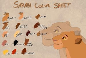 Sarabi color sheet by Takadk