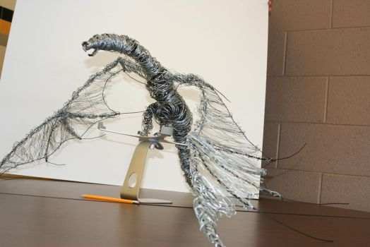 Wire Dragon by 9PhantomDragons