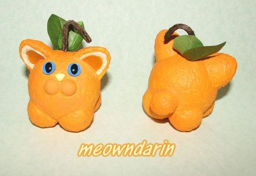 Meowndarin Orange Mini by crokittycats