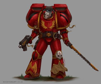 Blood Angels Assault Marine by Davy-Art