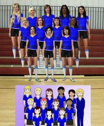 AG Volleyball Team by RayneShikama