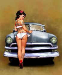 Pepper's Girl and Car by russellink