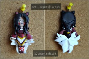 Ahri League of Legends polymer clay by SuperPandaGem