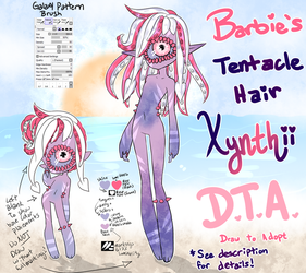 Xynthii: DTA: Tentacle Hair DRAW TO ADOPT! CLOSED by ObsceneBarbie