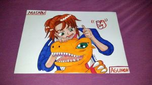 Brave Heart / Masaru and Agumon by Hibejime