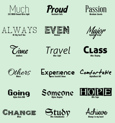 Font Pack #8 by shiny-a