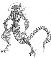 Xenomorph Warrior by arvalis