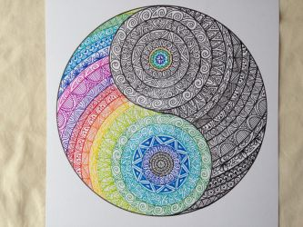 Yin yang colour and ink by MadebyMelW