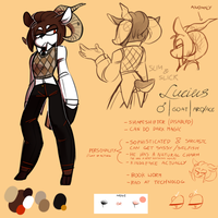 OC Ref: Lucius the Goat by Apotoz