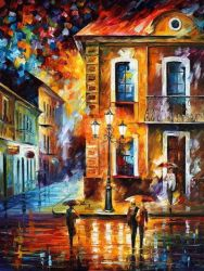 Charming Night by Leonid Afremov by Leonidafremov