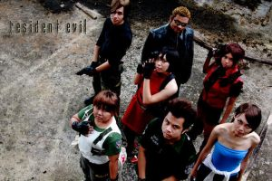Resident Evil Group Shoot 3 by aiko-mizuno