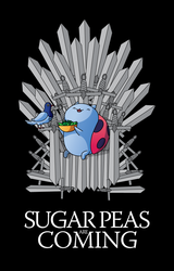 Sugar Peas Are Coming Tee Shirt Design by xkappax