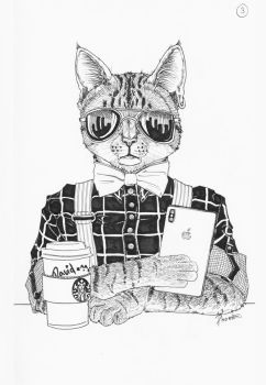 03 - Hipster cat by Phoeline