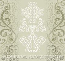 Ornamental vintage brush set 1 by Finsternis-stock