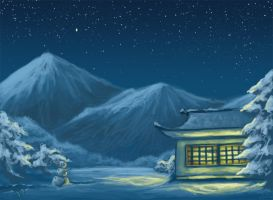 I want winter in Japan-speed by Wictorian-Art