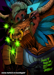 Tauren Druid (Male) from World of Warcraft by ZOMBGIEF