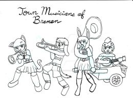 Town Musician Girls of Bremen by Selecthumor