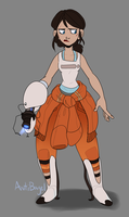 Chell by sketchbagel