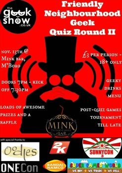 Poster for our 2nd Quiz by TheGeekShowUK