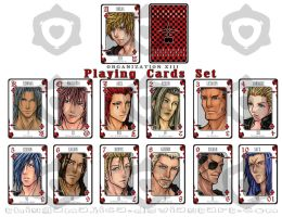 Organization XIII Playing Card by Thingamajica