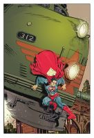 More powerful than a locomitive... color by deankotz
