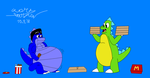 Cup the Dragon getting fat up by Gus The Dragon by Yarkov