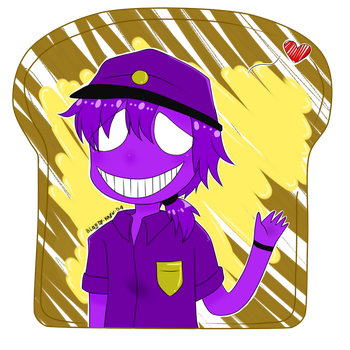 Purple Guy The Toast Lover CHIBI by bloody-kazu