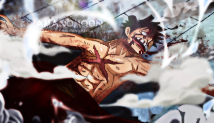 OnePiece Chapter 923 Luffy vs Kaido KO Death by Amanomoon