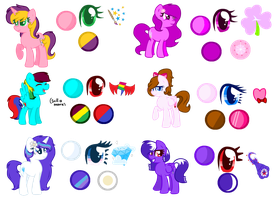 - My Mane Six Reference Sheet by CutieKittyFoxPainter