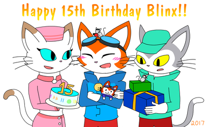 Happy 15th Birthday Blinx!! by catgirl140