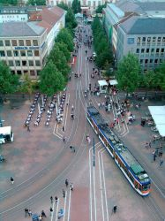 Luisenplatz Darmstadt from top of Louis Monument 2 by rkibria