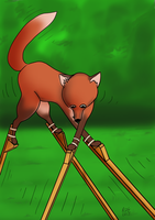 Fox on Stilts by rcdg
