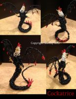 Cockatrice Wire Sculpture by shottsy85