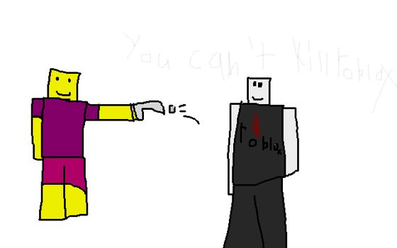 YOU CANT KILL ROBLOX [Request] by Ask-Alice-Leenalee6