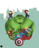 Avengers Assemble by MeoMoc