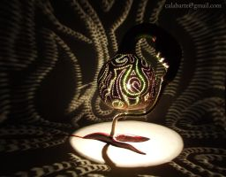 Table lamp I - Greens - by night 1 by Calabarte